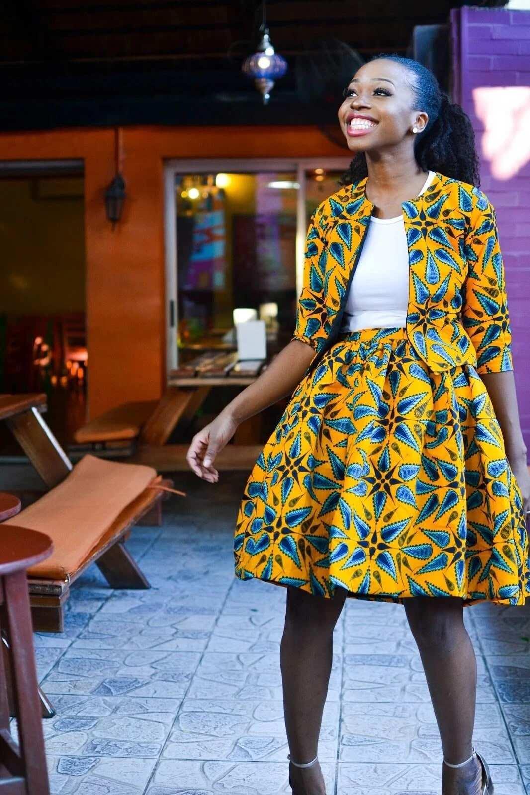 ankara short skirt and blouse styles, ankara skirts , ankara blouse styles