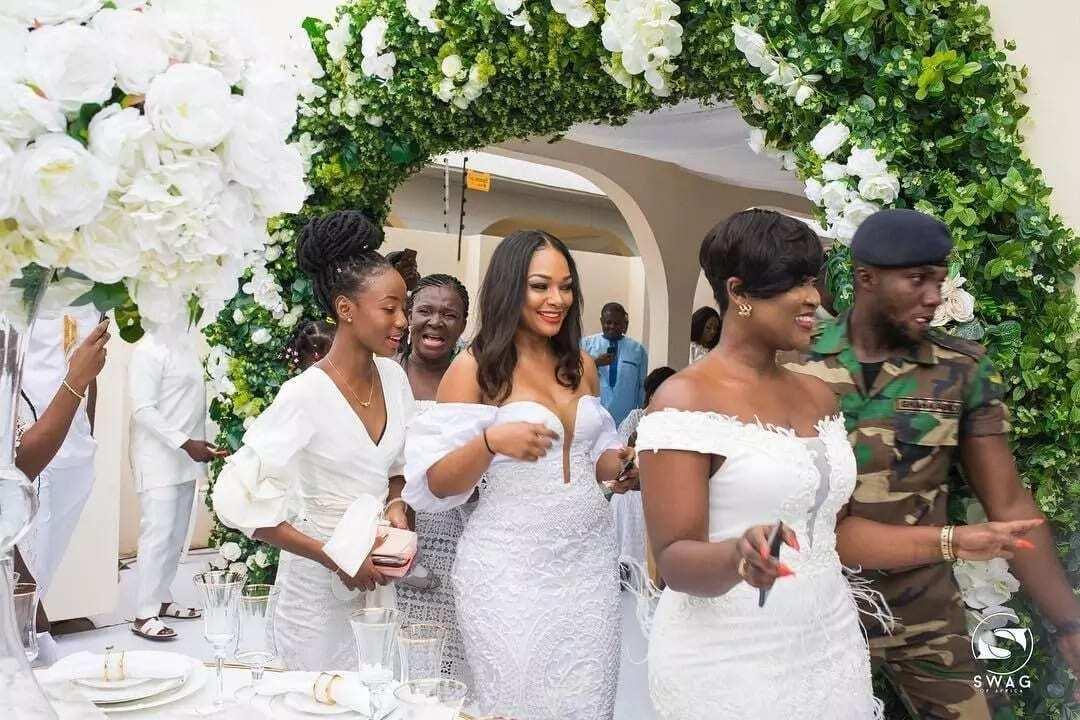 The bridal team at John Dumelo's wedding