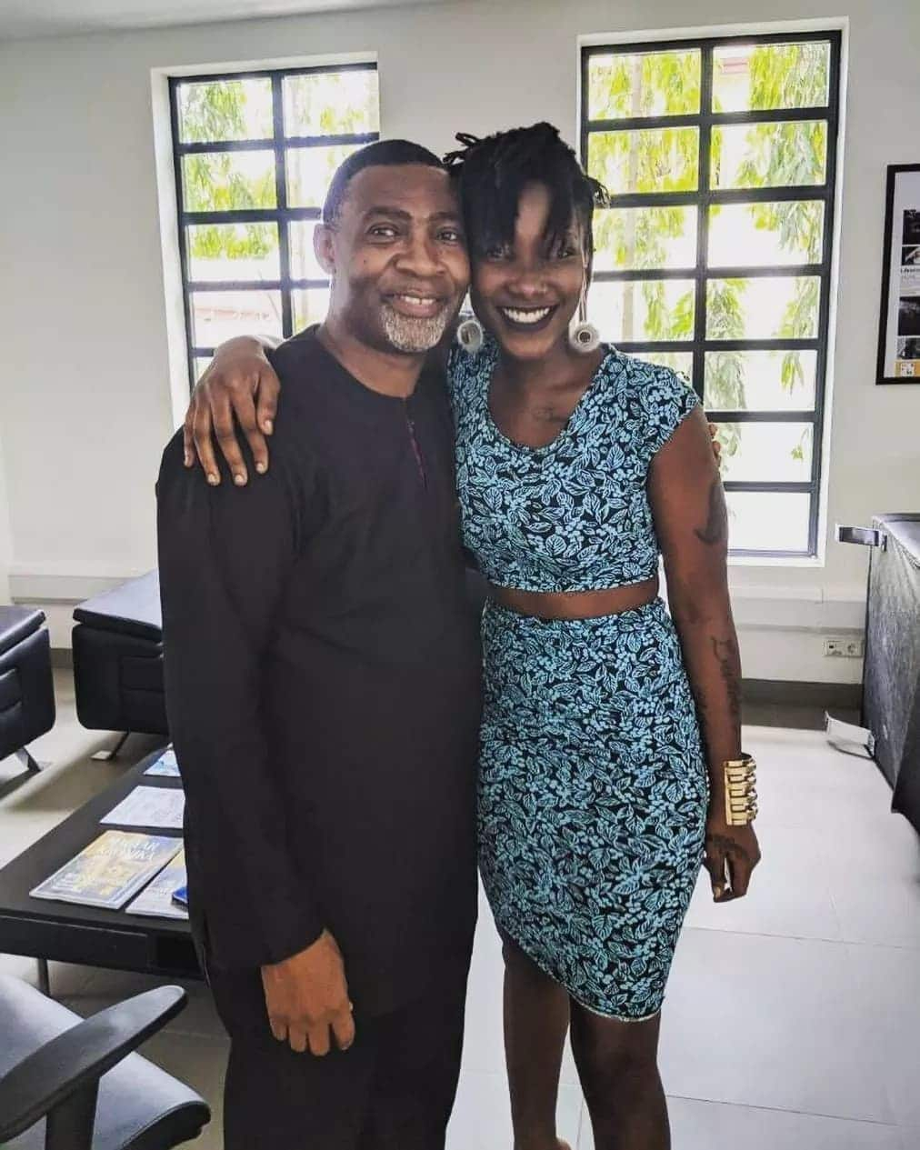 Dr. Lawrence Tetteh's pose with Ebony hours before her death