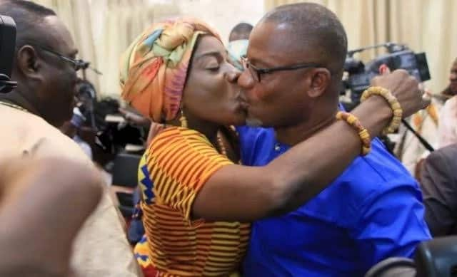 Tourism Minister gives husband hot kiss after vetting