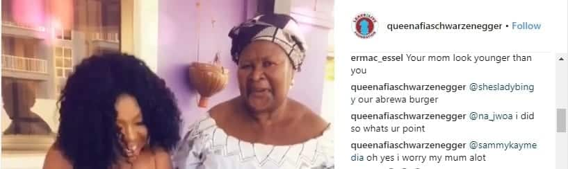 The post of the social media user claiming Afia looks older than her mother