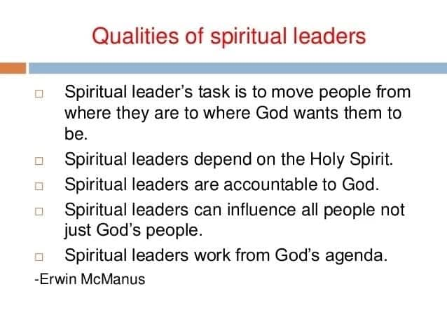 Qualities of a good religious leader