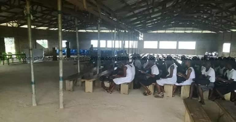 Free SHS: Adonten Senior High converts Assembly Hall into extra classroom