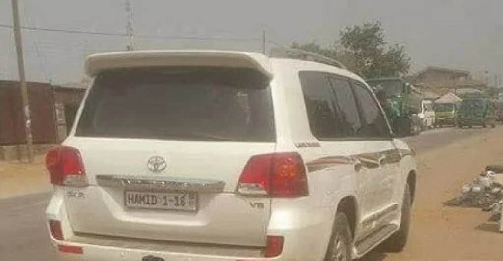 This Toyota Landcruiser was rumoured to be owned by Minister of Information, Mustapha Hamid.
