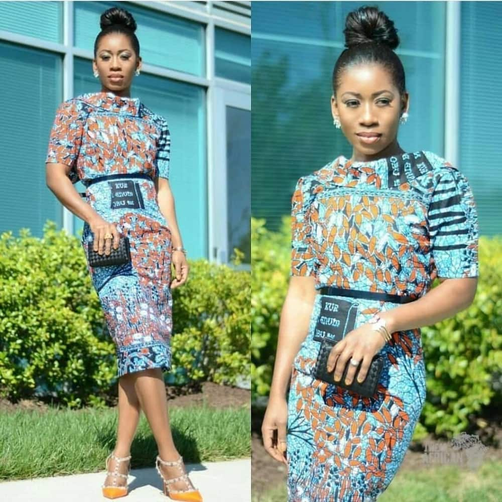 37a9f26840aa2 Ankara High Waist Skirt Designs