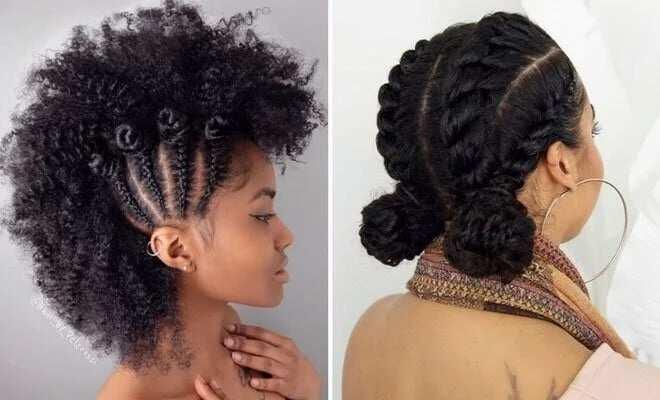 Natural Hair Braid Updo Styles: Styles For Natural Hair: Braid, Twist, Weave, Short, Long