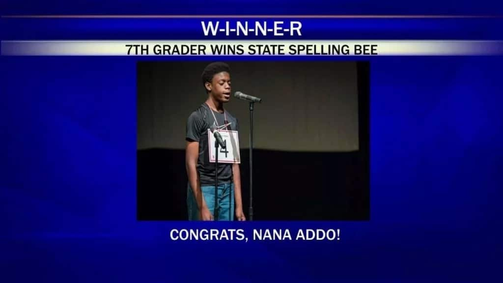 Nana Addo crowned Spelling Bee champion the US