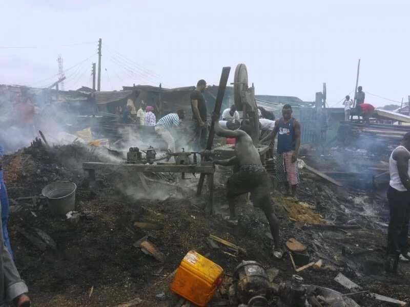 Fire guts shops Asawase in Ashanti region