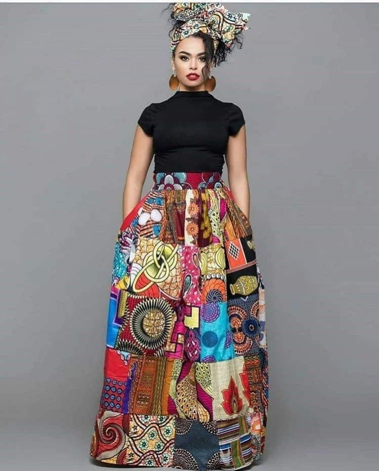 african print tops ladies african wear tops african print skirt and top  styles african print skirt b55a2aa7b