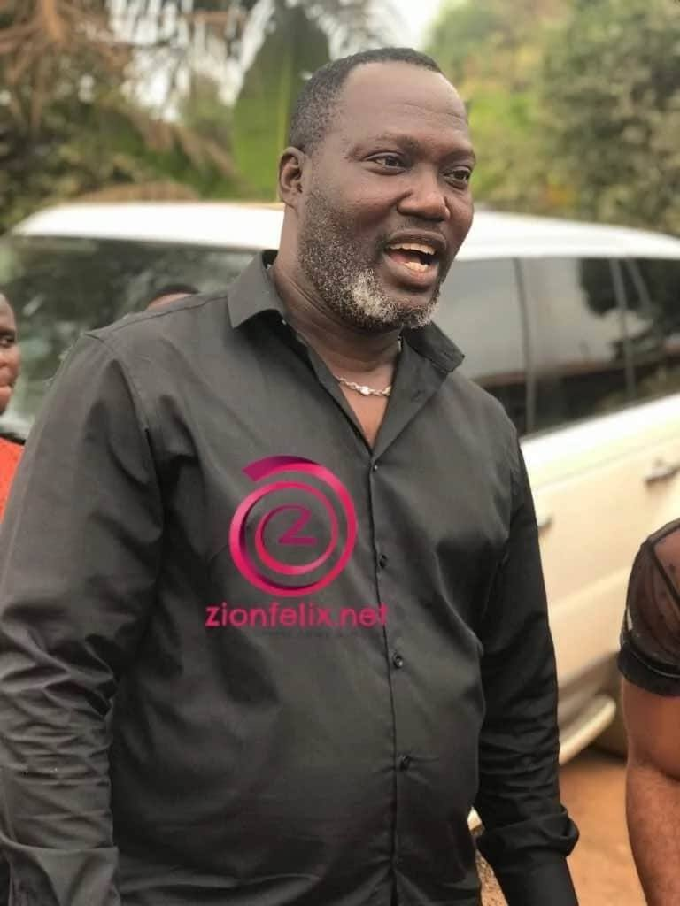 Bishop Bernard Nyarko wears a black shirt