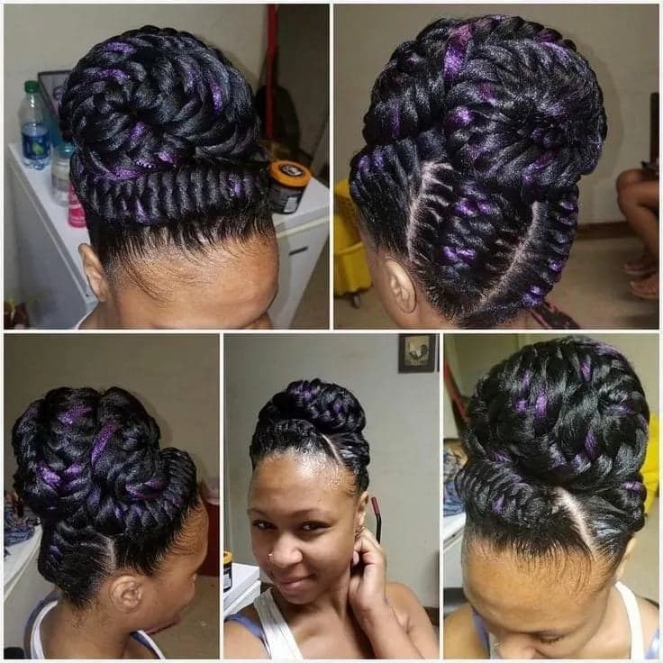 Goddess braids styles pictures