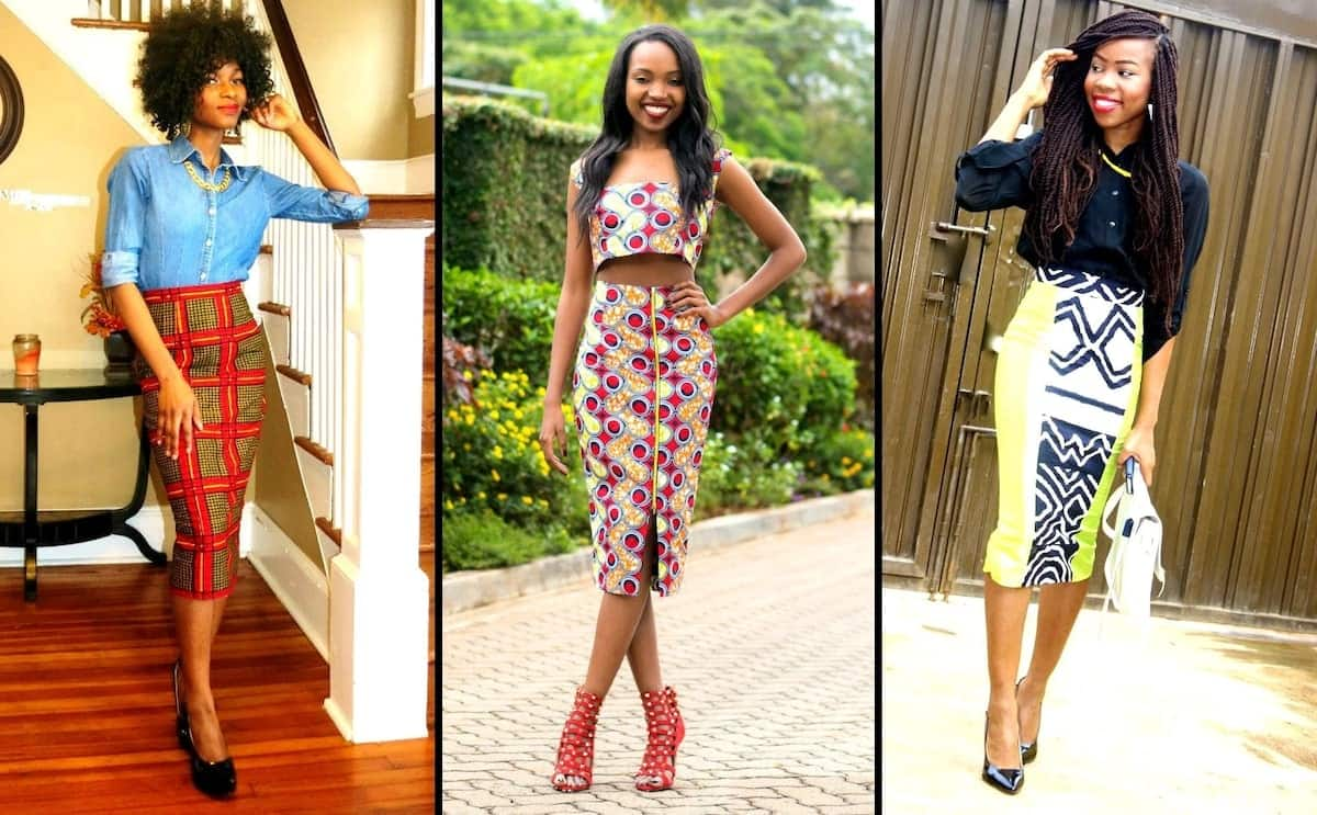 african print skirts styles