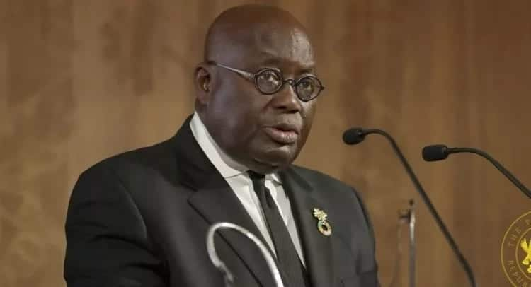 Akufo- Addo speaking at a conference