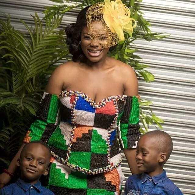 Akua GMB flaunts Dr Kwaku Oteng's children on her birthday