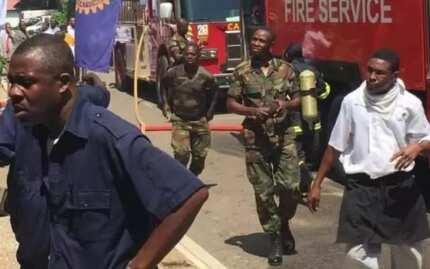 Fire guts Labadi Beach Hotel in Accra (Photos)