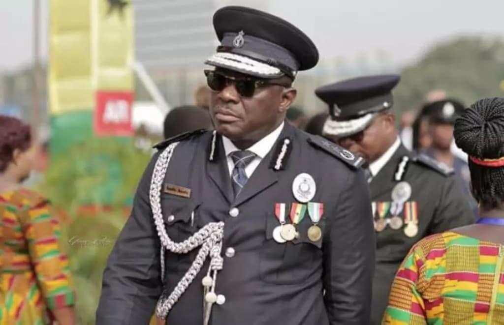 A policeman in uniform