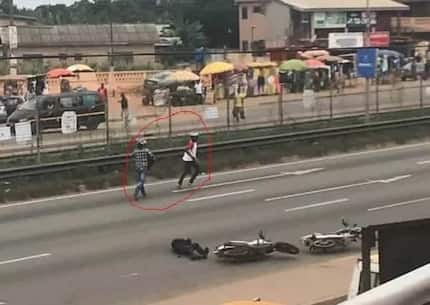 Video: Police place Ghc10k bounty on robbers who killed cop