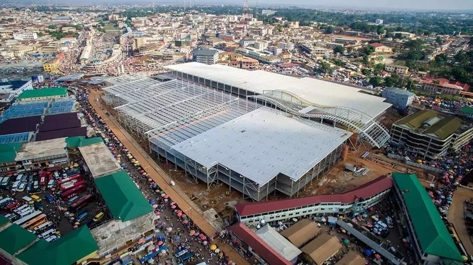 Photos: Revamped Kumasi Central Market taking shape after fire outbreak