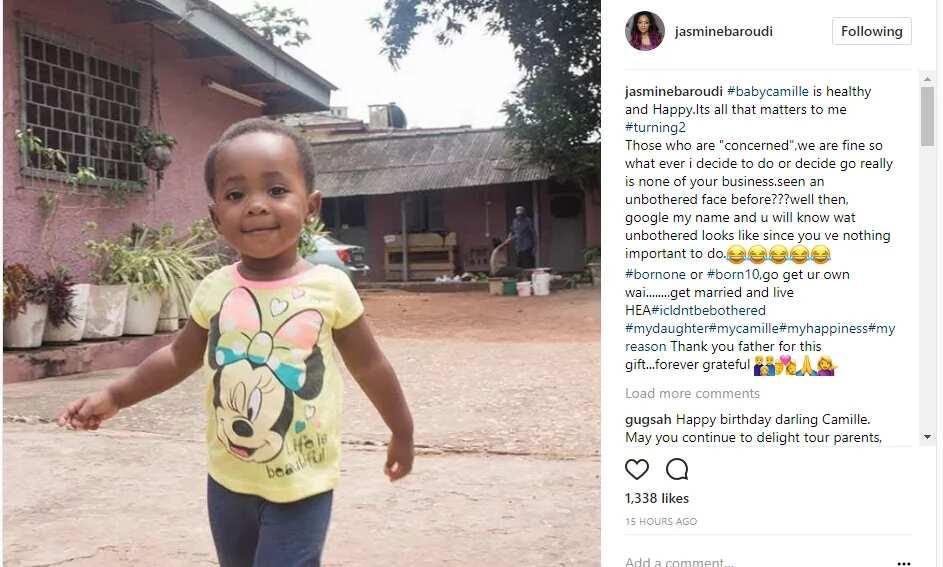 Jasmine Baroudi's Baby Camille turns tow years old