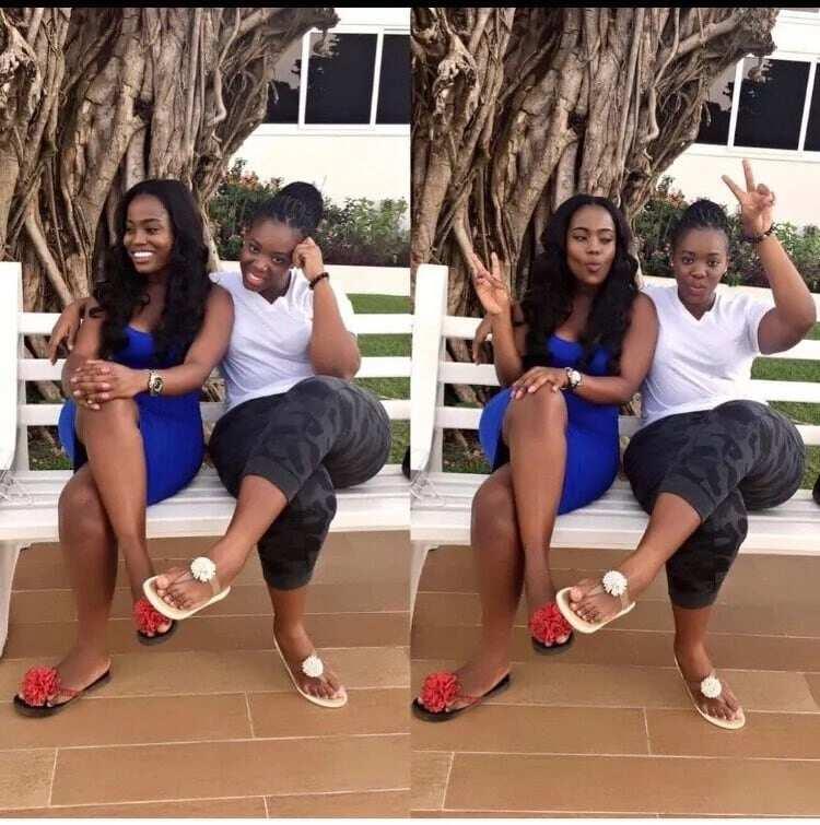 Actress Serwaa Opoku and sister