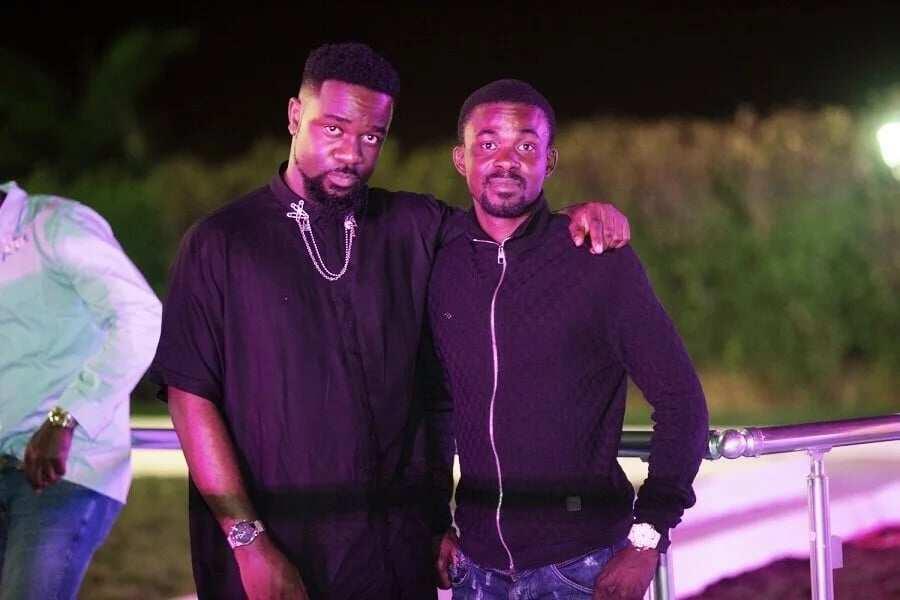 Zylofon boss Nana Appiah Mensah and rapper Sarkodie at a party