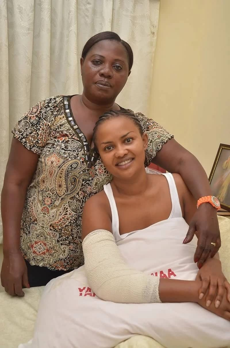 Nana Ama McBrown speaks up on her car accident with her husband