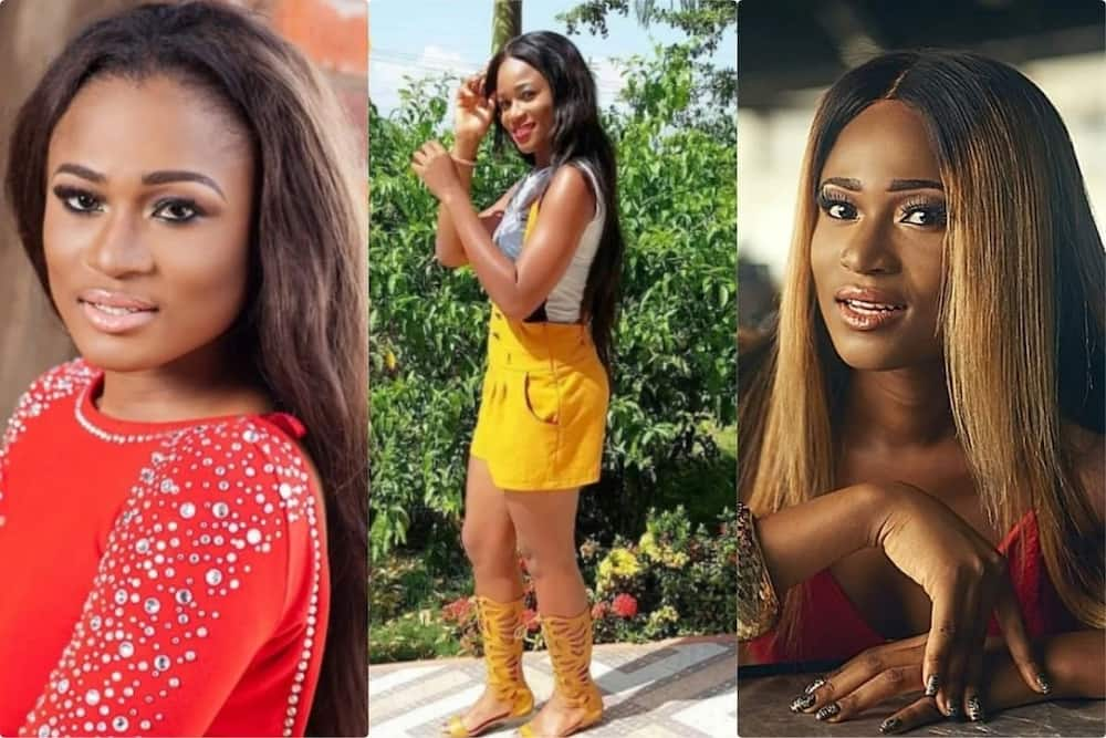 Christabel Ekeh boldly flaunts her 'papa no' in stunning photos; fans congratulate her