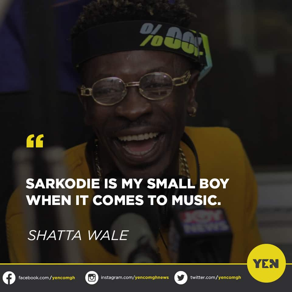 Ghanaians slam Shatta Wale for referring to Sarkodie as his 'small boy'