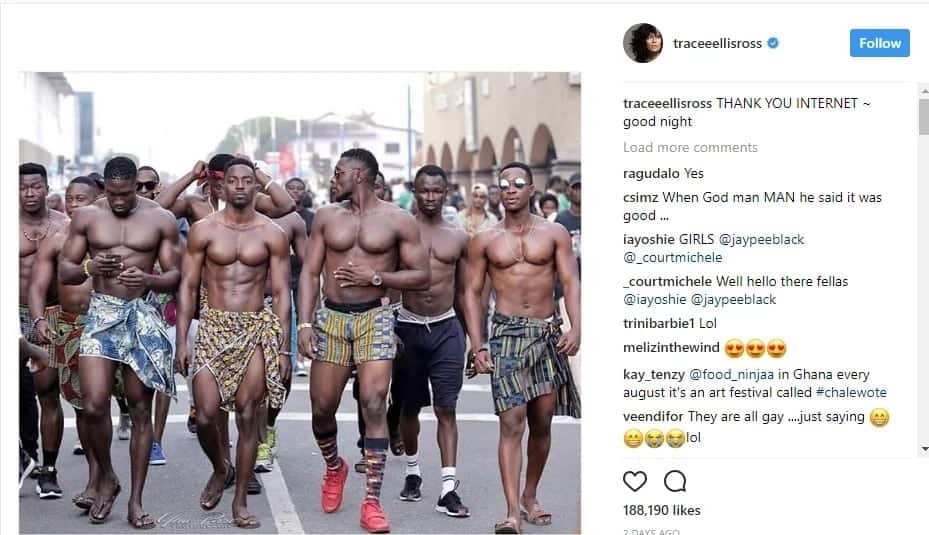 Hollywood star drools over men at Chalewote festival
