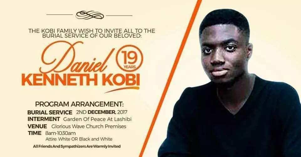 Prophet Emmanuel Badu Kobi buries his 19-year old son