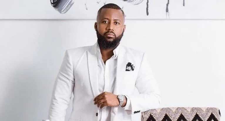 Cassper Nyovest wearing a white suit