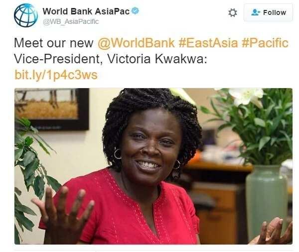 Ghanaian Victoria Kwakwa gets top World Bank appointment