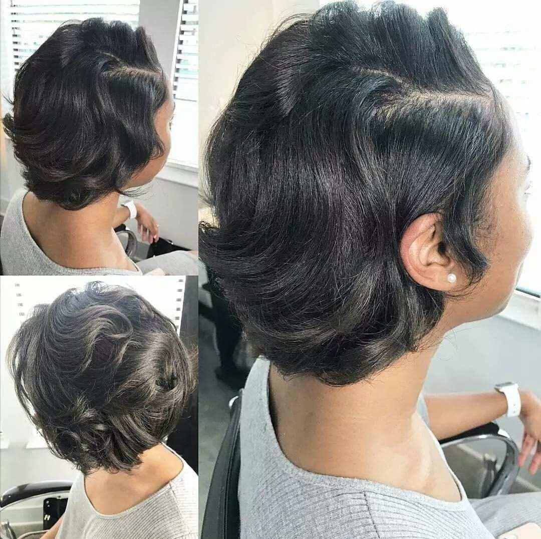 Best short weave hairstyles in Ghana