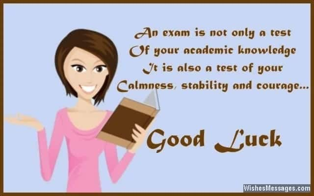 Best Good Luck For Exam Test Wishes Yencomgh
