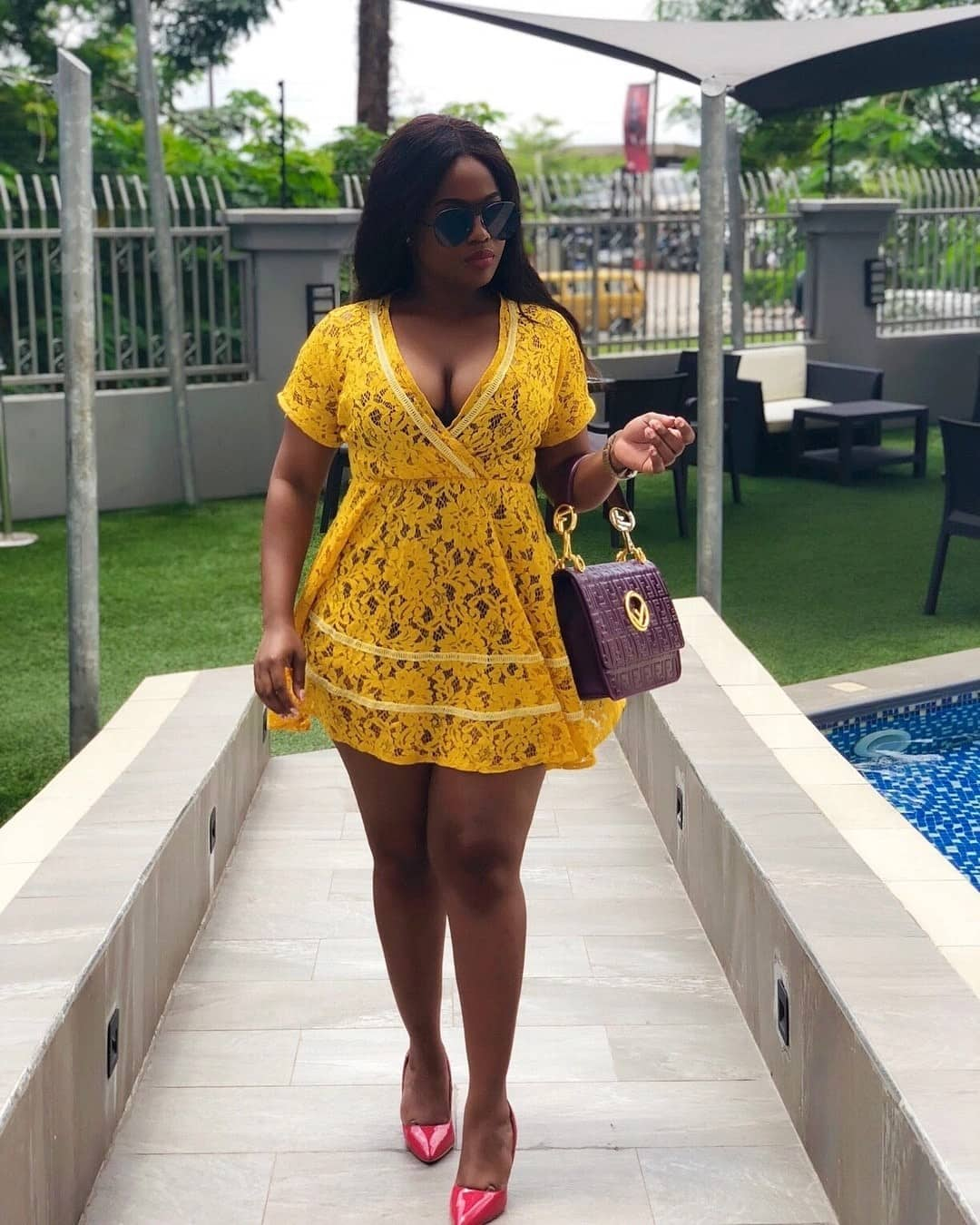 """Serwaa Opoku-Addo is the """"lady in yellow"""" in new stunning photos"""