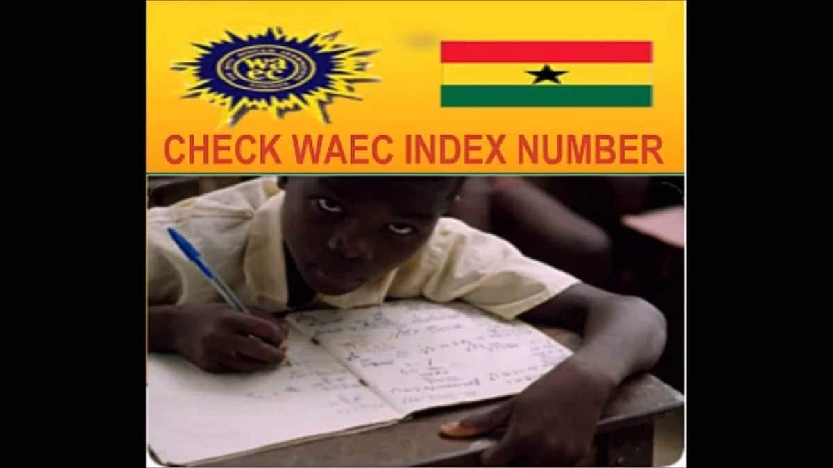 What is my WAEC Ghana index number?