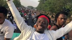 Fancy Gadam received a hero's welcome when he returned to his Tamale base
