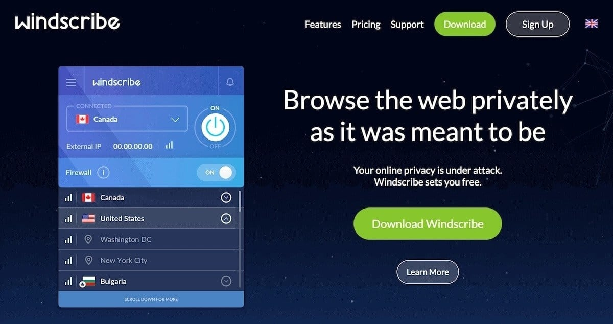 Windscribe free VPN review