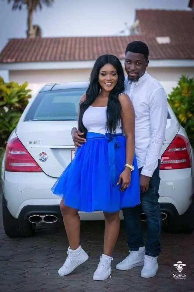 A Plus and Akosua Vee wearing white tops