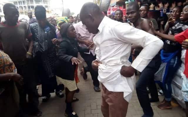 Men of God engage in a serious fight over offertory