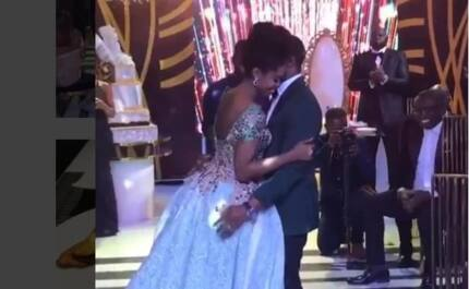 Video of Becca's emotional first dance with husband at wedding wows Ghanaians