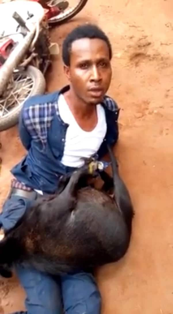 A man of God caught with a stolen goat