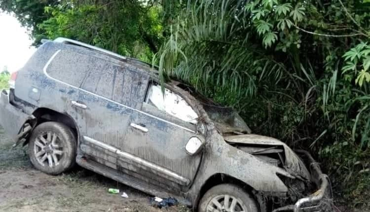 A vehicle involved in an accident