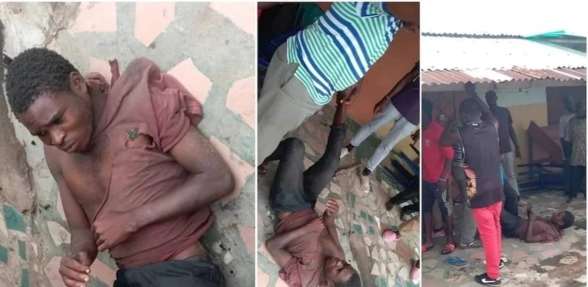 Suspected thief who feigns madness caught stealing in Nigeria (Video)