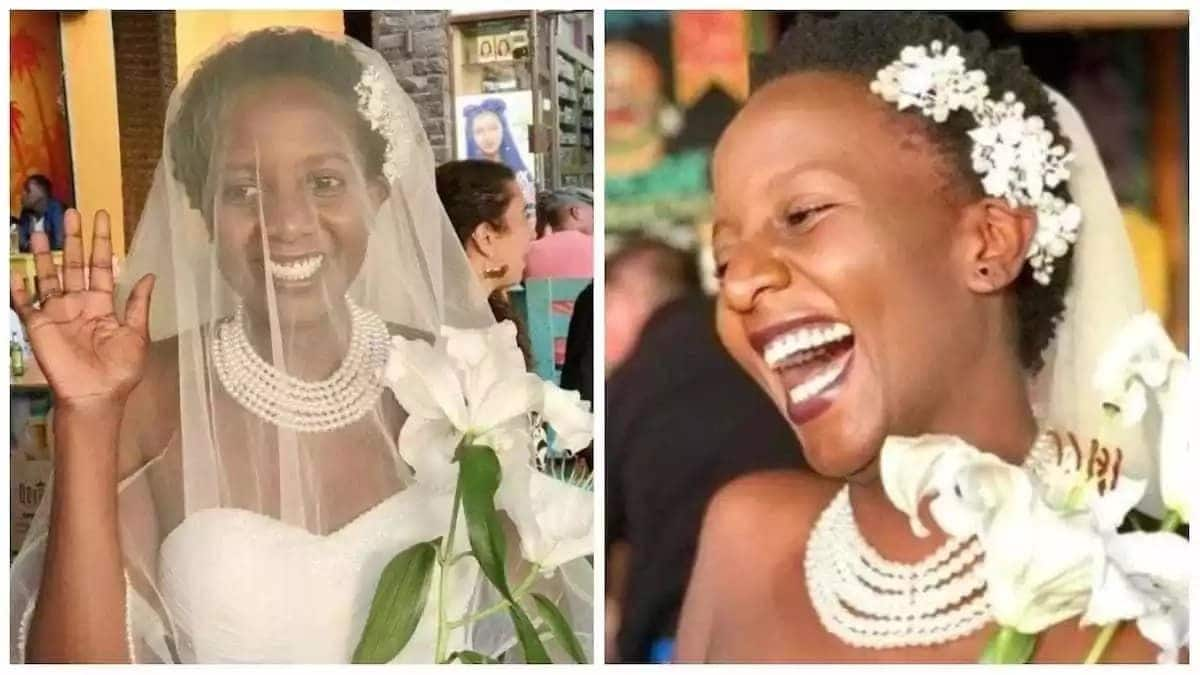 32-year-old Ugandan lady marries herself out of pressure from parents (photos)