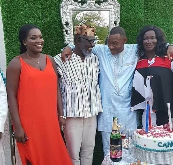 Ebony's family all smiles as they attended Lawrence Tetteh's birthday party