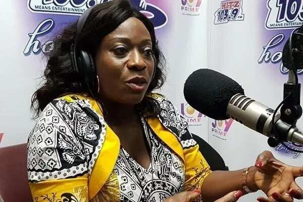 Catherine Afeku speaking in a studio interview