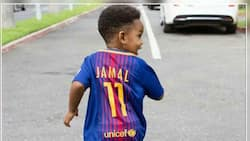 Sulley Muntari's son Jamal is already following his dad's footsteps as he hit the training ground