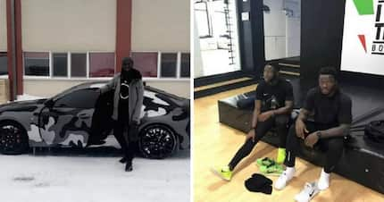 PHOTOS: Sulley Muntari's brother shares his love for flashy cars too