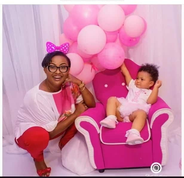 Nana Ama McBrown takes a lovely shot with baby Lorde and it is so beautiful